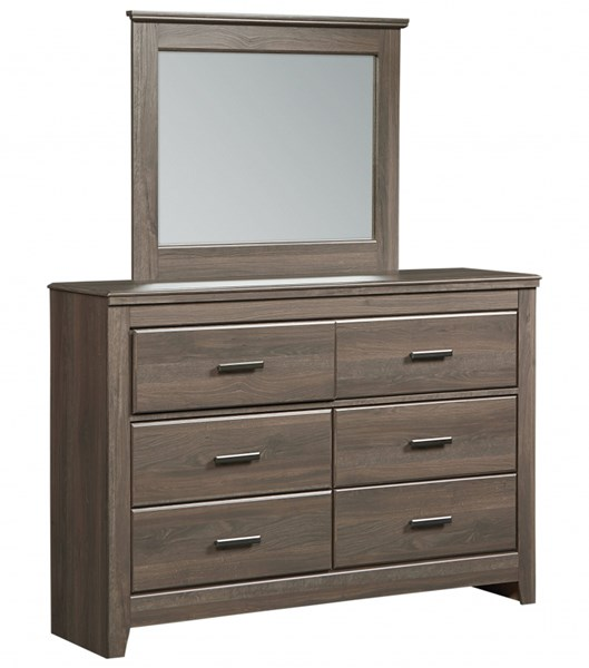 Hayward Dark Brown Wood 6 Drawers Dresser STD-56509