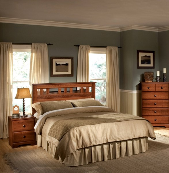 Orchard Park Dark Brown Wood Full/Queen Panel Headboard STD-58701