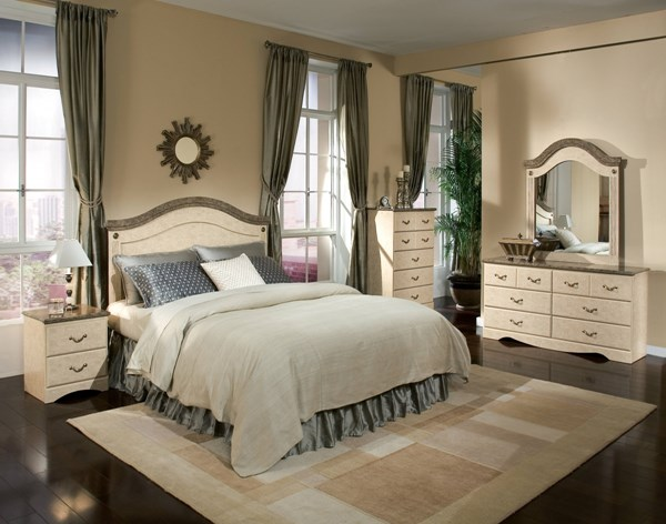 Florence Traditional Wood 5pc Bedroom Set w/Queen/Full Panel Headboard std-59500-BR-S2