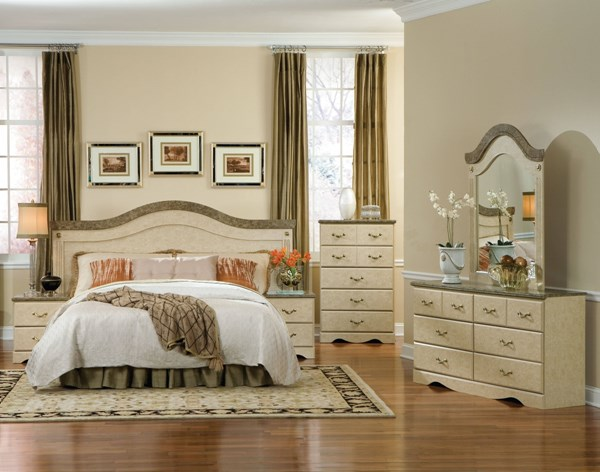 Florence Traditional Wood Glass Master Bedroom Set std-59500-BR