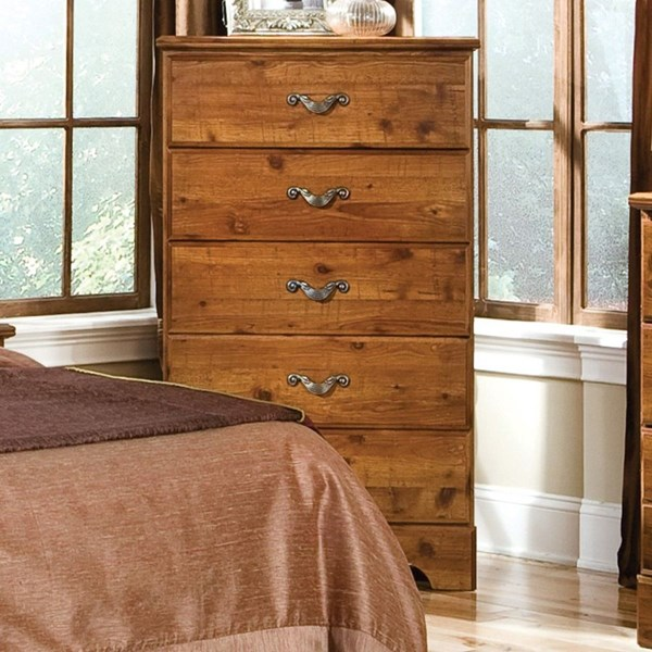 Hester Heights Natural Wood Handle 5 Drawer Chest STD-61155