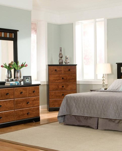 Steelwood Traditional Cherry Wood 5 Drawer Chest STD-61255