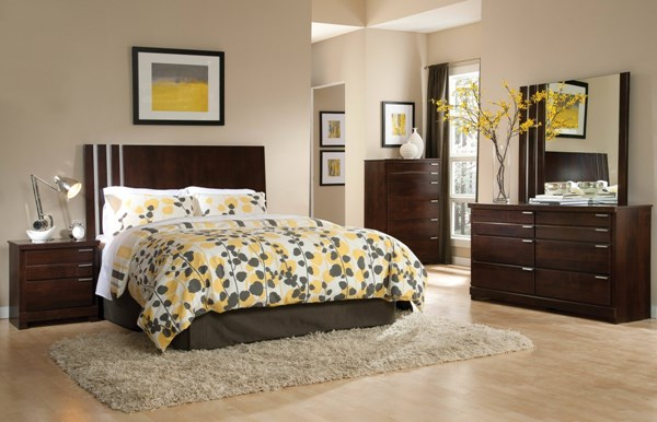 Strata Modern Brown Wood Master Bedroom Set std-68452-BR