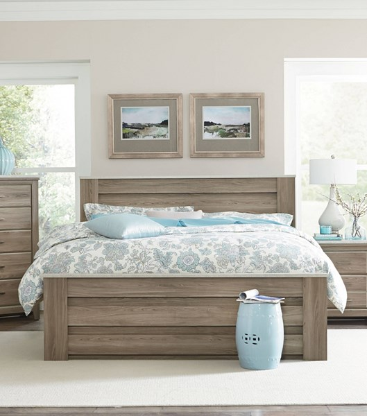Stonehill Transitional Oak Wood Full/Queen Mansion Bed std-694-FQBED