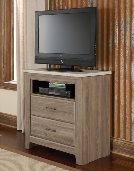 Stonehill Transitional Oak Wood TV Chest STD-69406