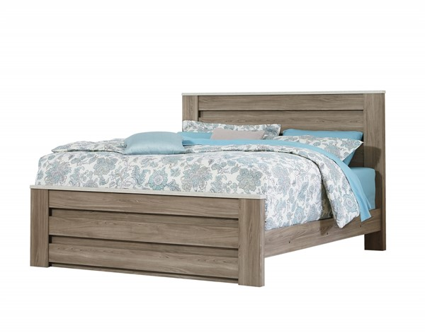 Stonehill Transitional Oak Wood King Mansion Footboard STD-69433