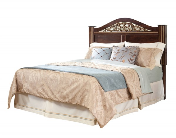 Odessa Traditional Brown Cherry Wood King Poster Headboard STD-69516