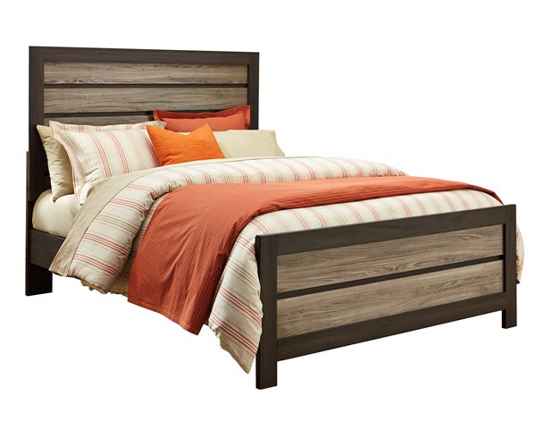 Freemont Transitional Oak Gray Wood Queen Panel Footboard Only STD-69761
