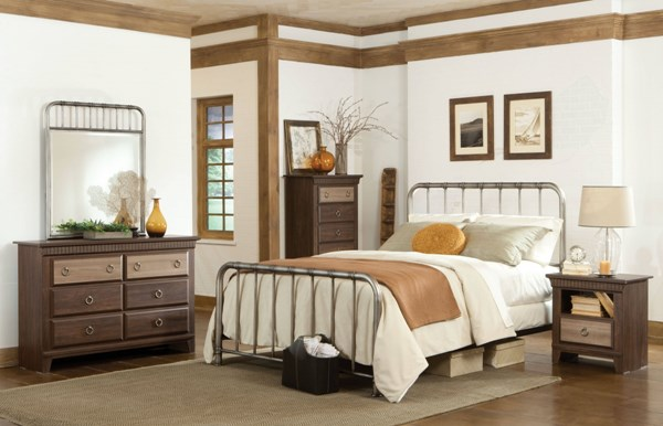 Standard Furniture Tristen Antique Pewter Master Bedroom Set STD-875-BR