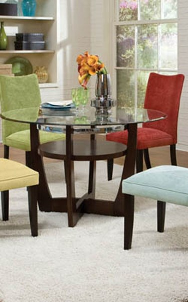 La Jolla Parsons Chairs 4-Pack (Red/Spa/Green/Camel) STD-19991