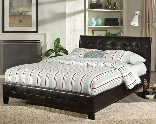 Rochester Modern Black PVC King Upholstered Headboard STD-92033
