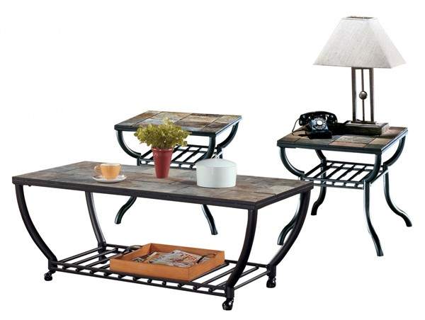 Antigo Contemporary Black Coffee Table Set T233