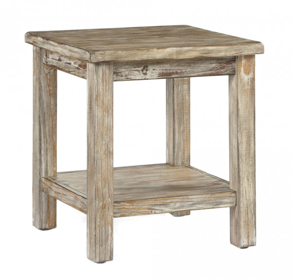 Rustic Accents Bisque Chairside End Table T500-302