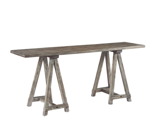 Rustic Accents Casual Gray Brown Wood Console T500-504