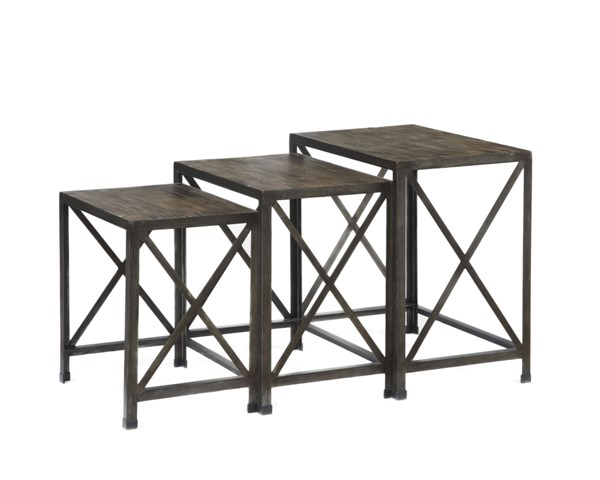 Rustic Accents Gray/Brown Nesting End Tables (3/Cn) T500-716