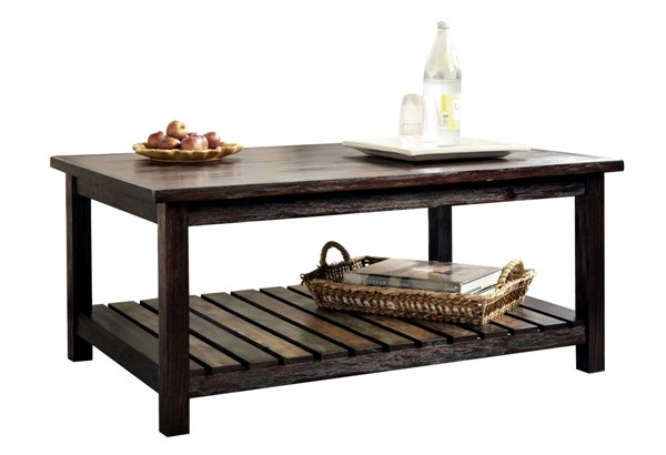 Ashley Furniture Mestler Brown Rectangular Cocktail Table T580-1