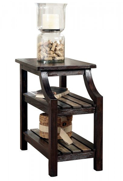 Mestler Rustic Brown Chairside End Table T580-7