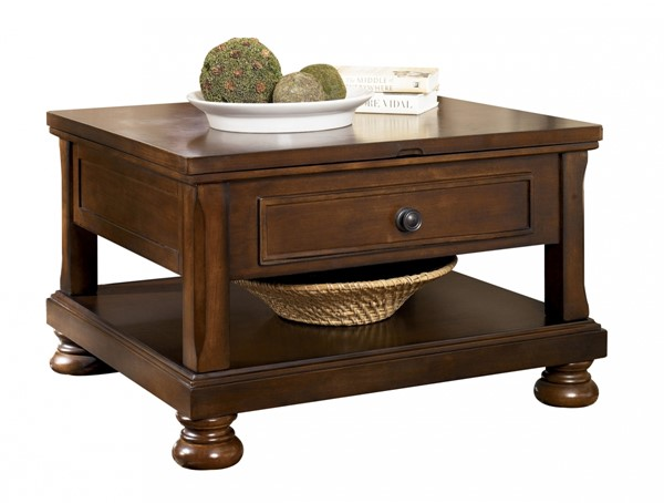 Ashley Furniture Porter Brown Lift Top Cocktail Table T697-0