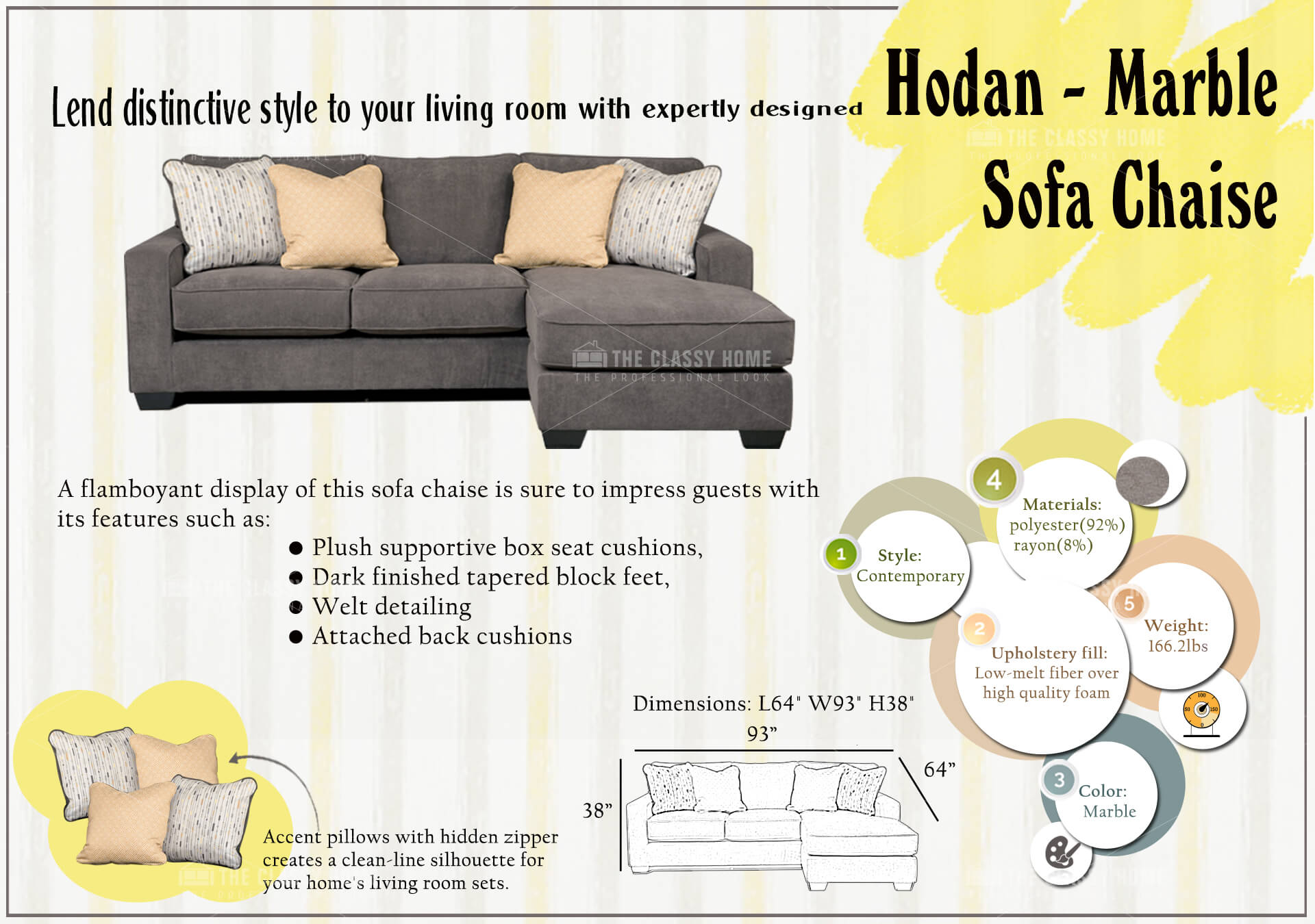 Ashley Furniture Hodan Sofa Chaise The Classy Home