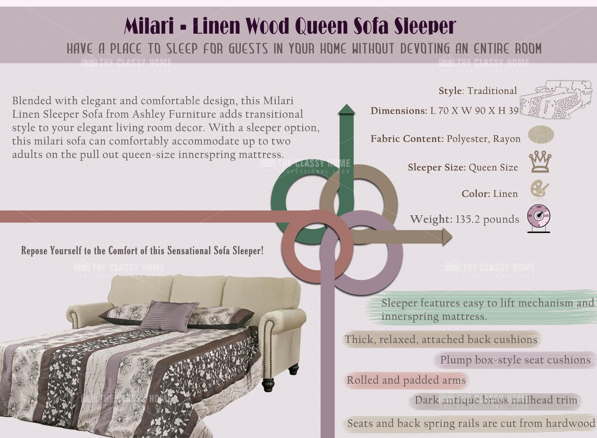 Ashley Furniture Milari Queen Sofa Sleeper
