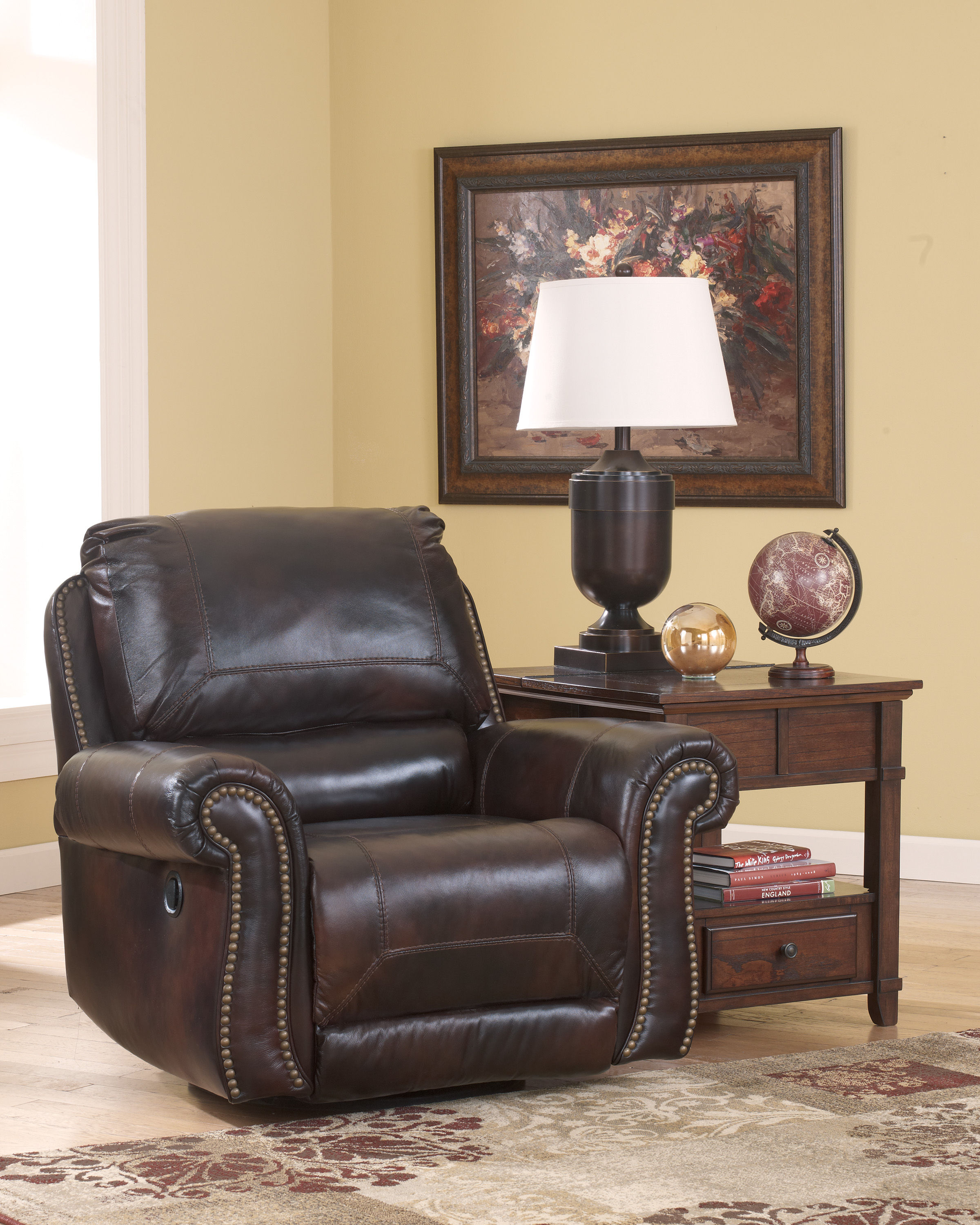 Dexpen - Saddle Swivel Glider Recliner Click To Enlarge ... & Dexpen - Saddle Swivel Glider Recliner | The Classy Home