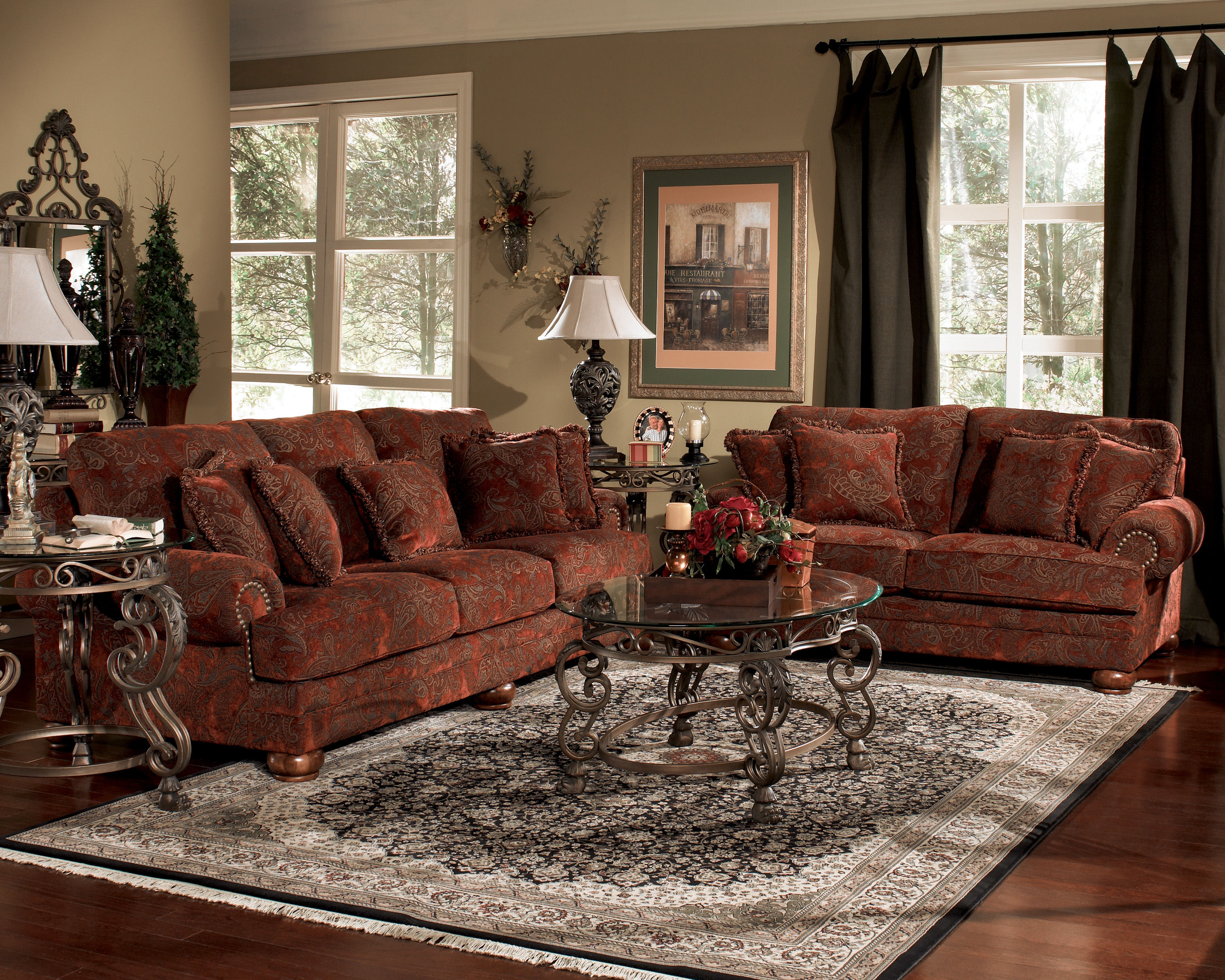 Excellent Burlington Sienna 4 Pc Living Room Set The Classy Home Gmtry Best Dining Table And Chair Ideas Images Gmtryco