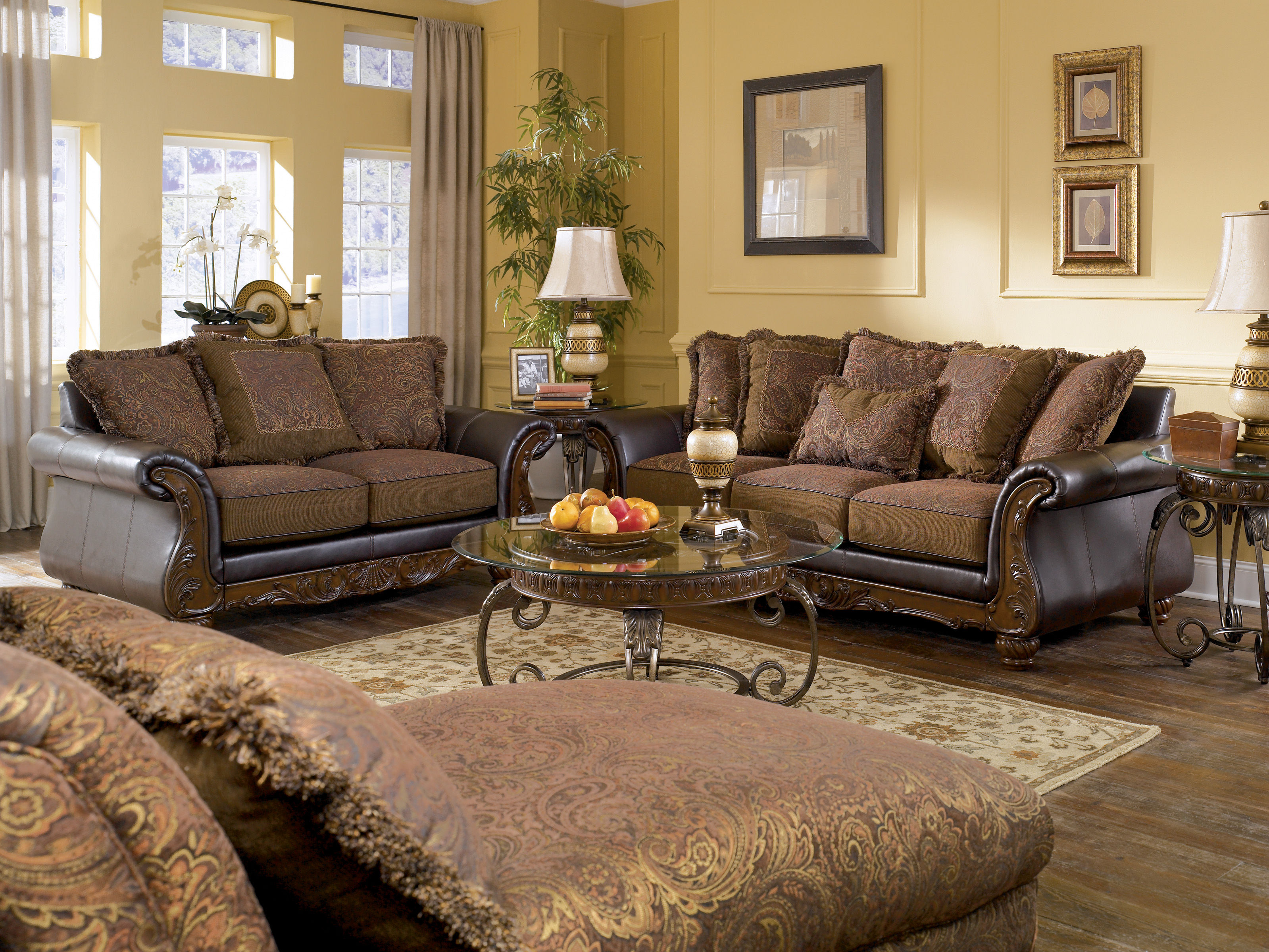 Wilmington Walnut Living Room Set The Classy Home