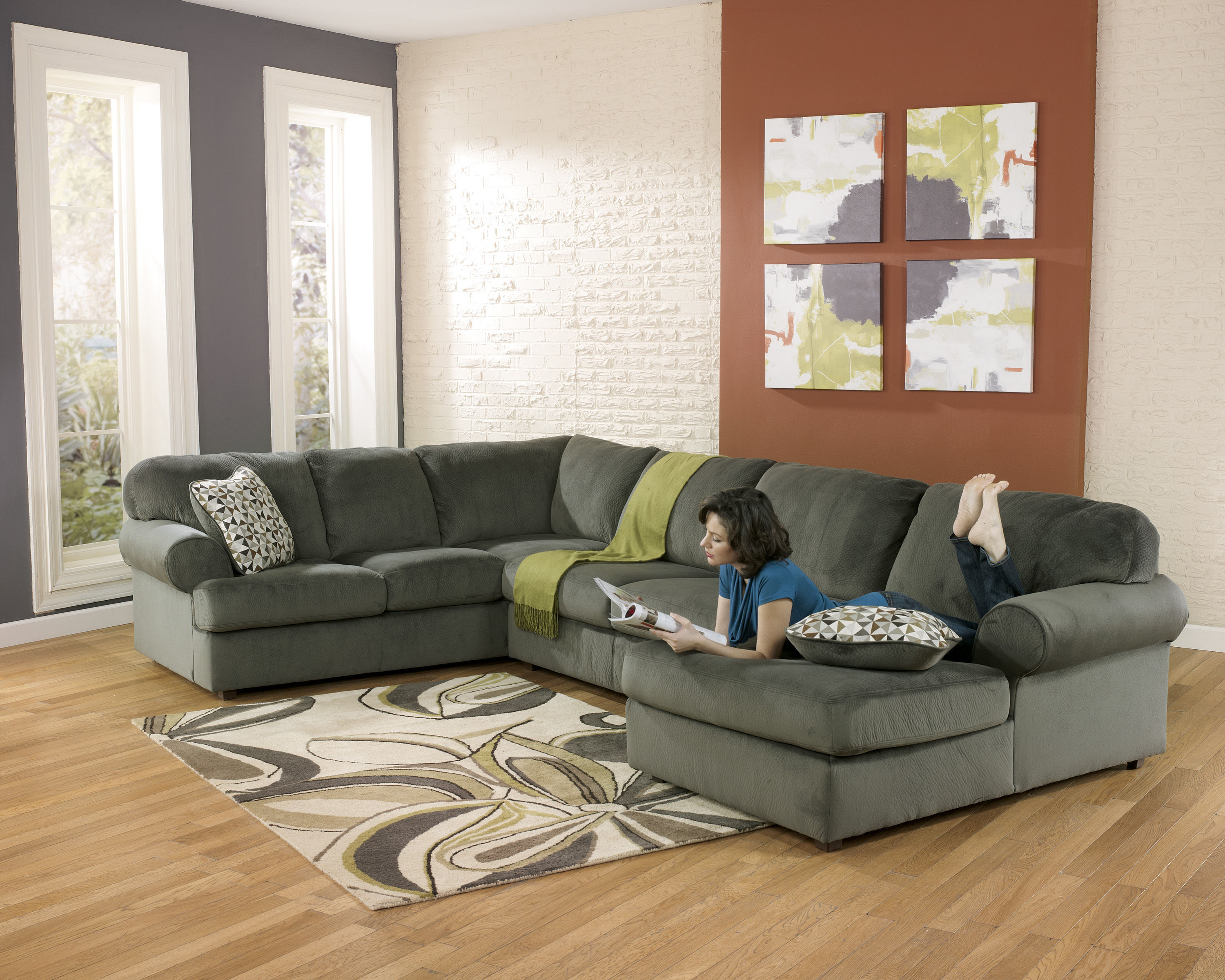 park arm facing patina piece left sectional set with right chaise patola