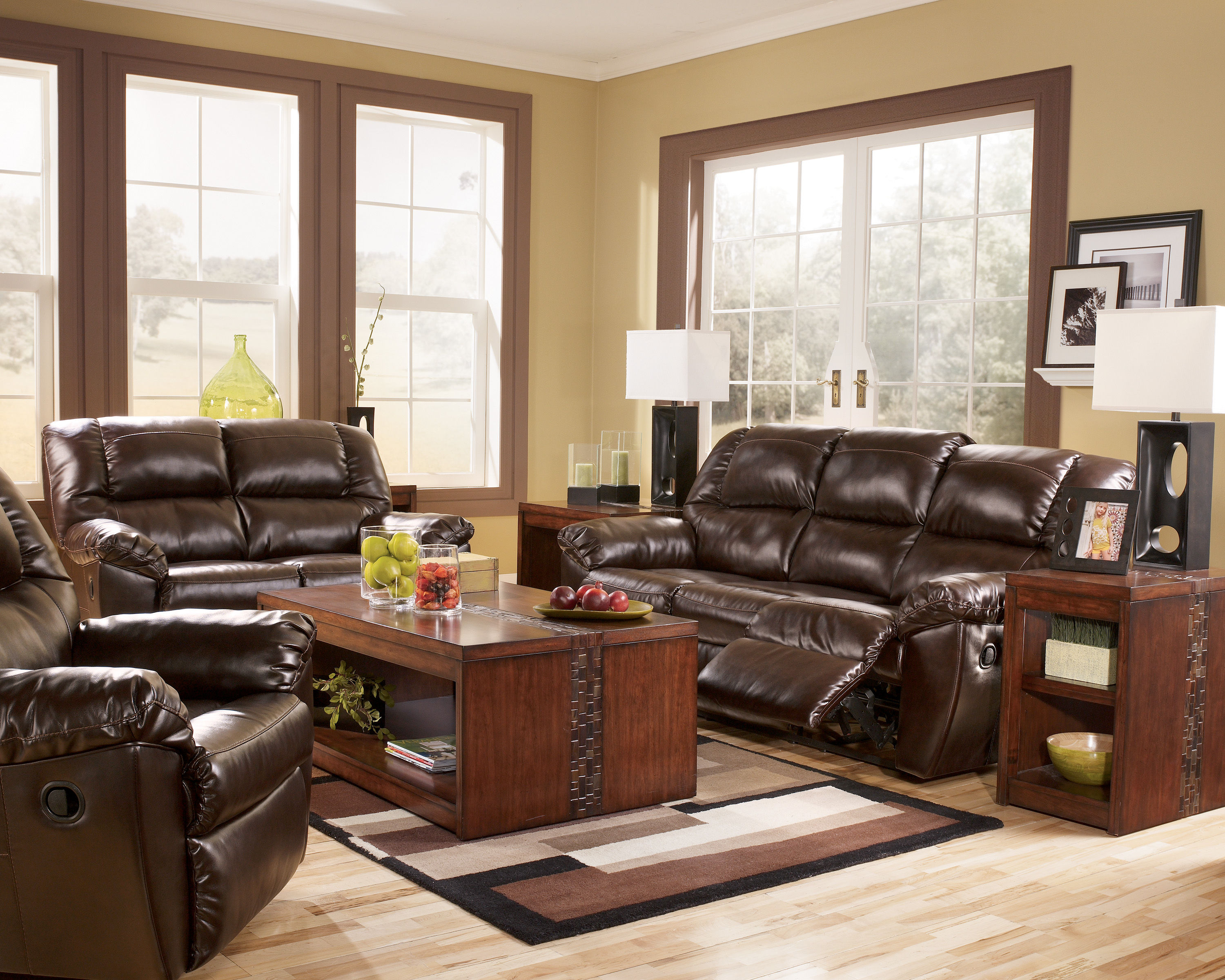 Rouge Durablend Mahogany Living Room Set The Classy Home