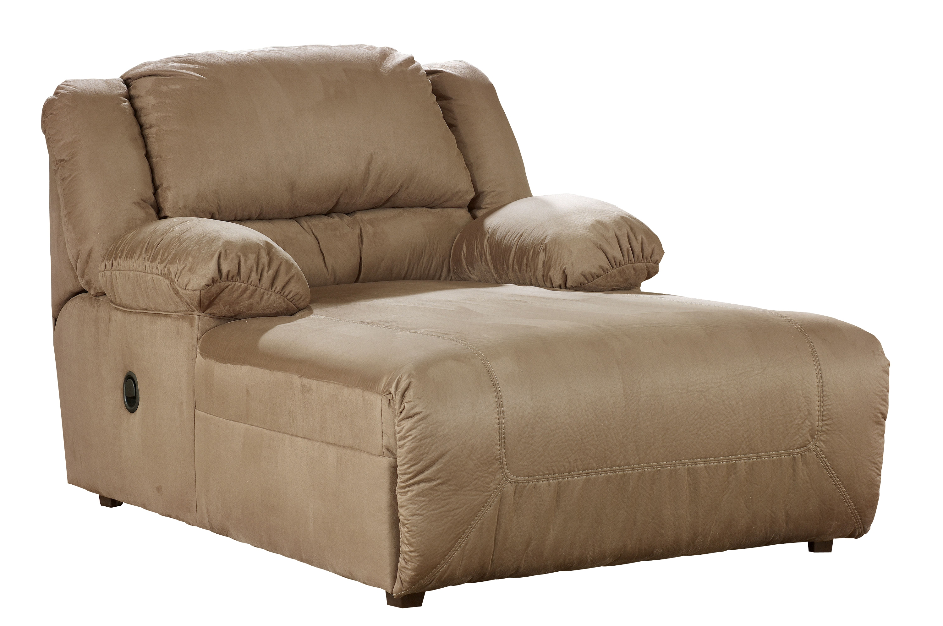 Click To Enlarge ...  sc 1 st  The Classy Home & Hogan Contemporary Mocha Fabric Pressback Chaise W/Cushion Back ... islam-shia.org