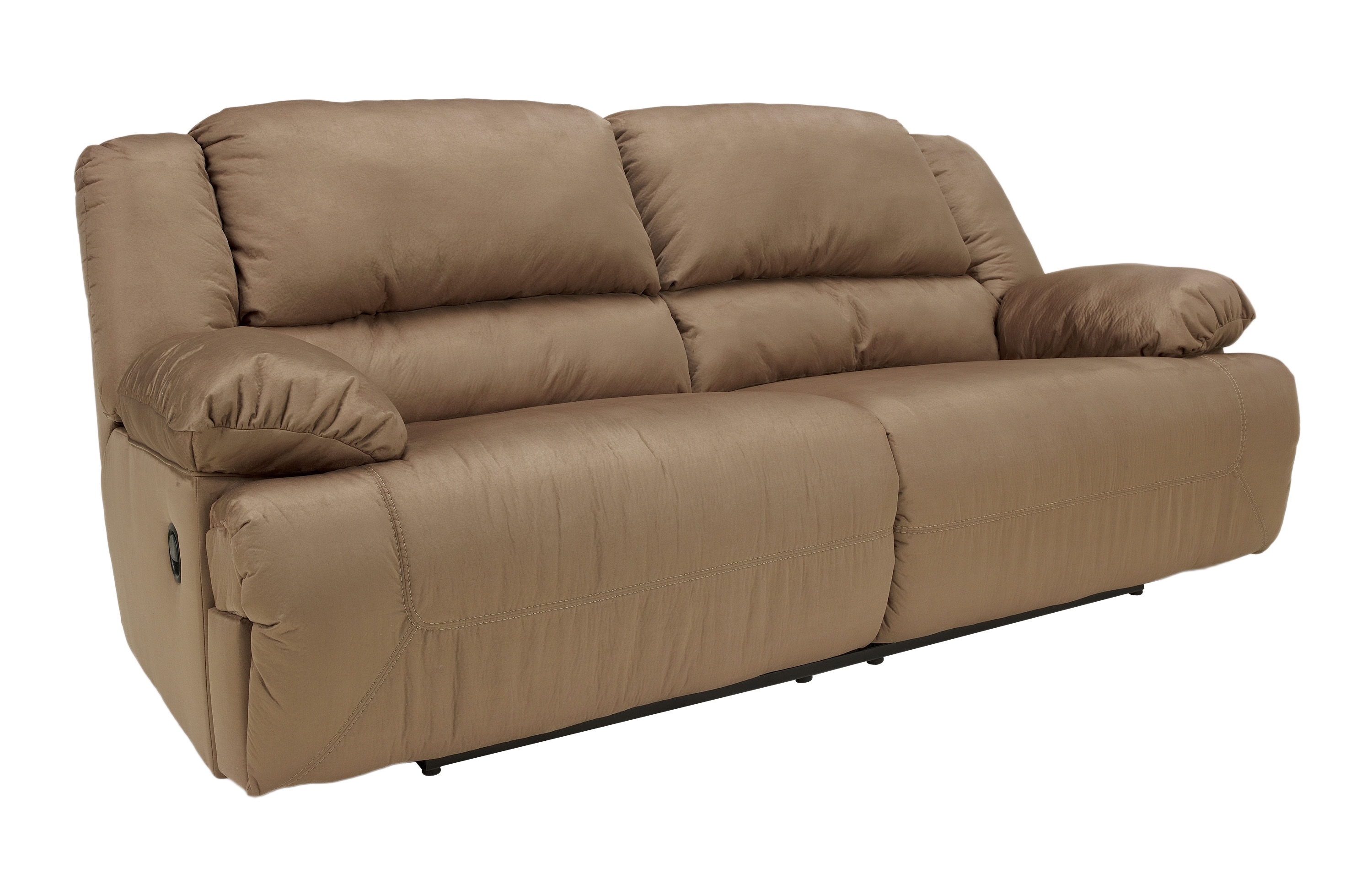 Hogan reclining sofa hogan contemporary mocha fabric for 2 arm pressback chaise