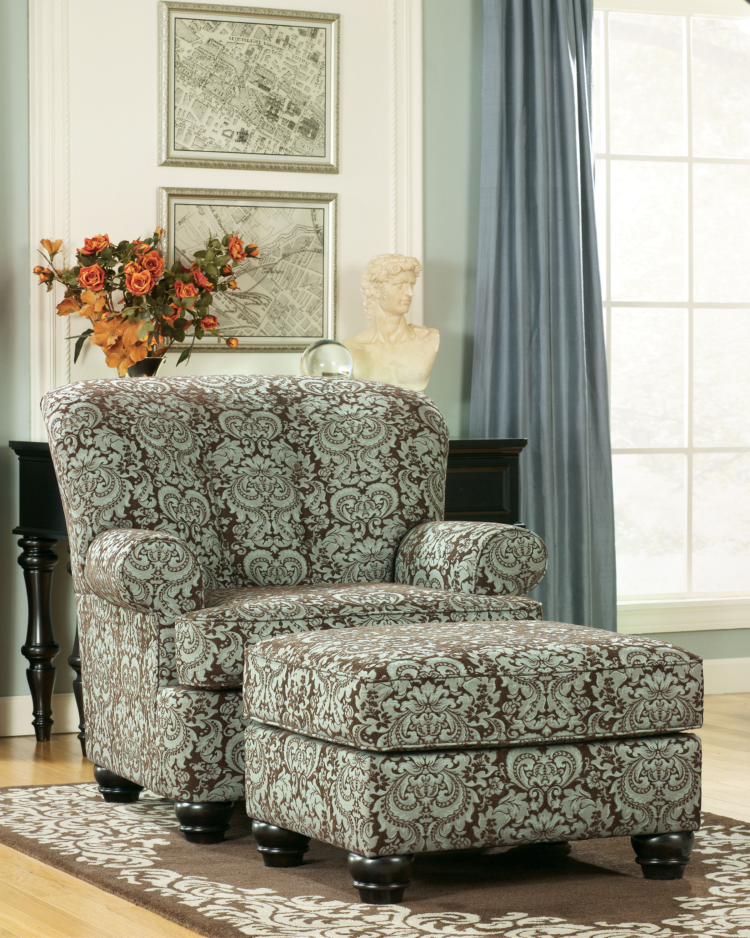 Crawford   Chocolate Accent Chair