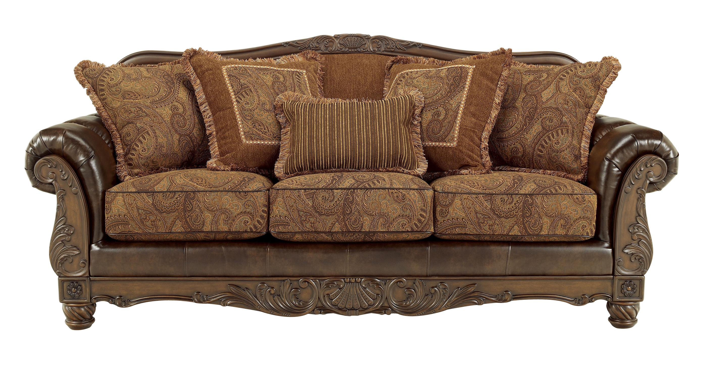 Fresco DuraBlend Traditional Antique Fabric Sofa