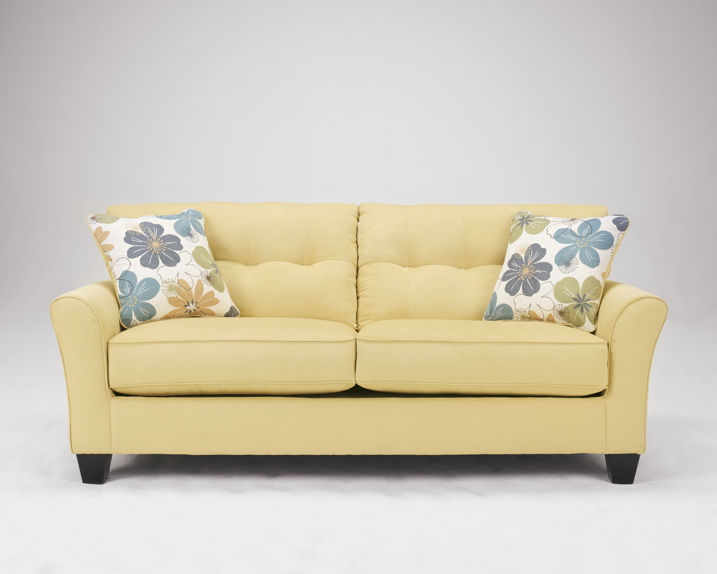 Kylee goldenrod sofa the classy home for Ashley kylee chaise lounge