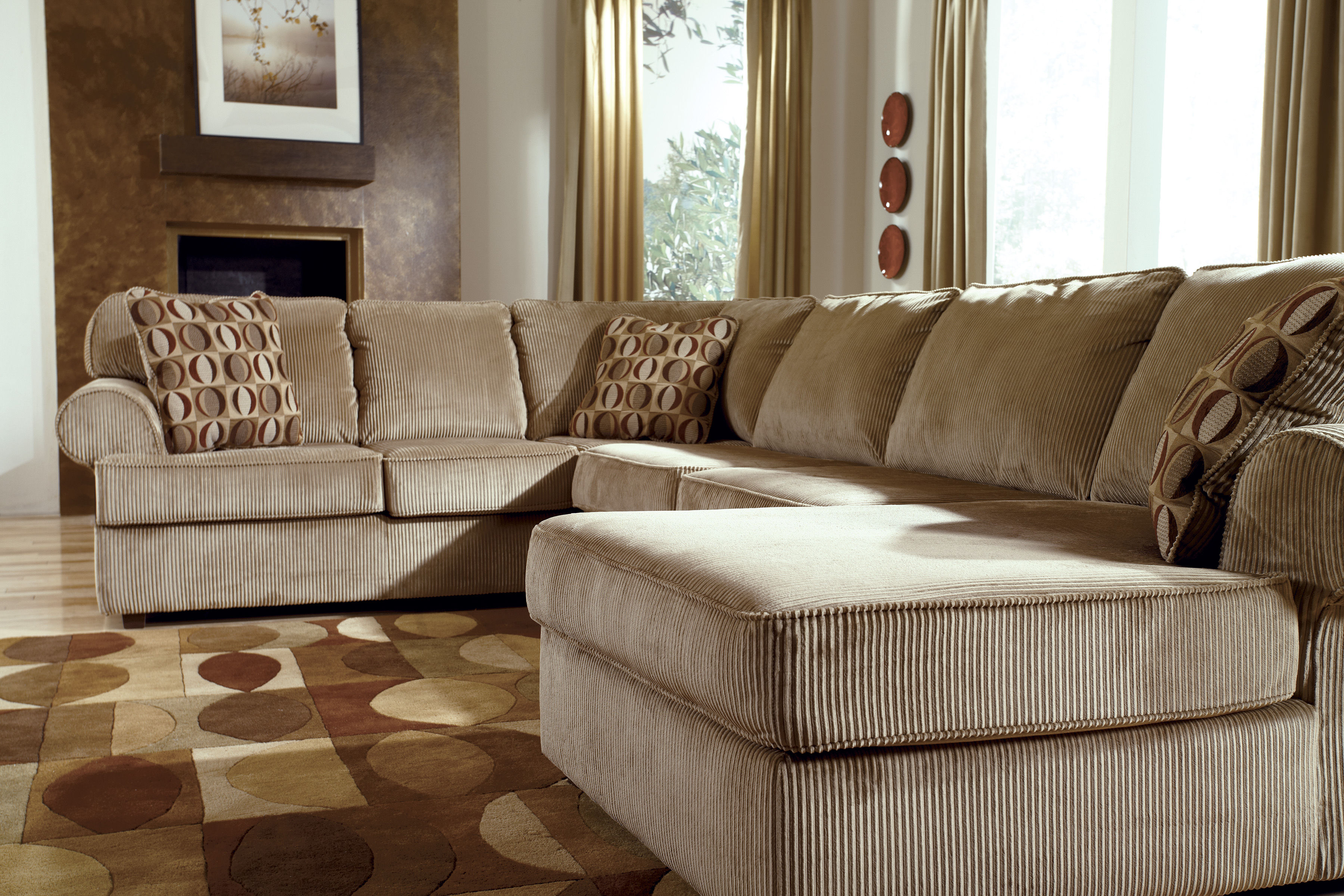 Vista Cappuccino Sectional right side chaise