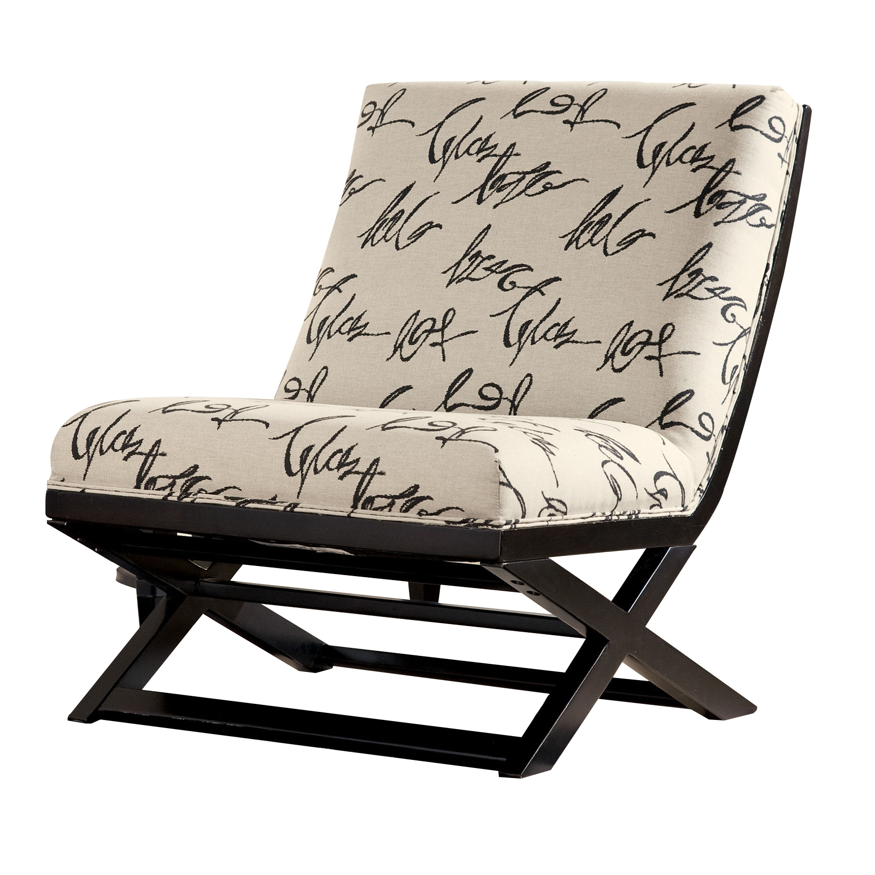 Ashley Furniture Levon Charcoal Armless Accent Chair | The ...