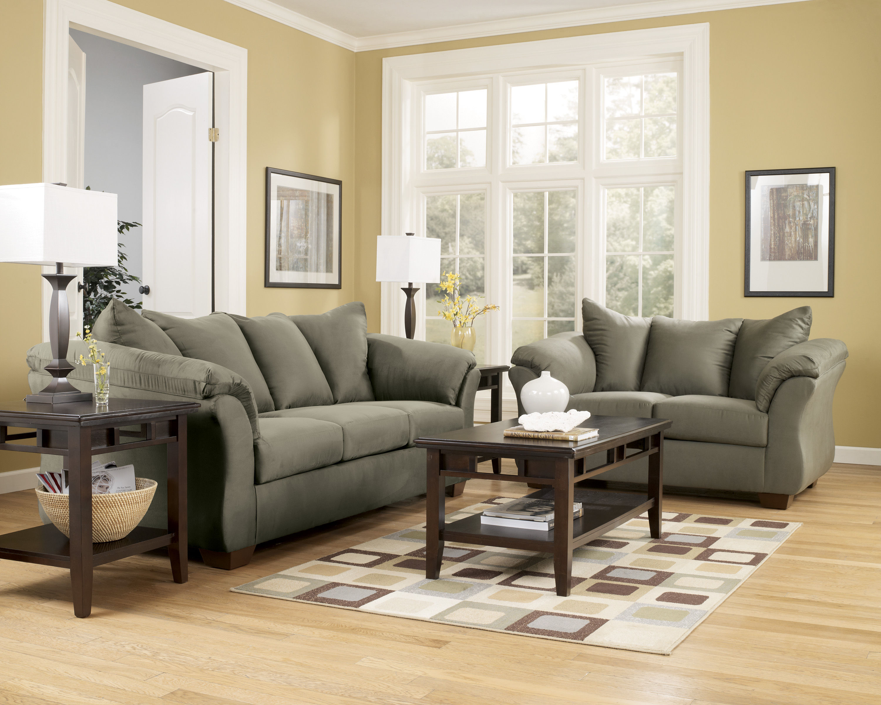 Ashley Furniture Darcy Sage 3pc Living Room Set The Classy Home
