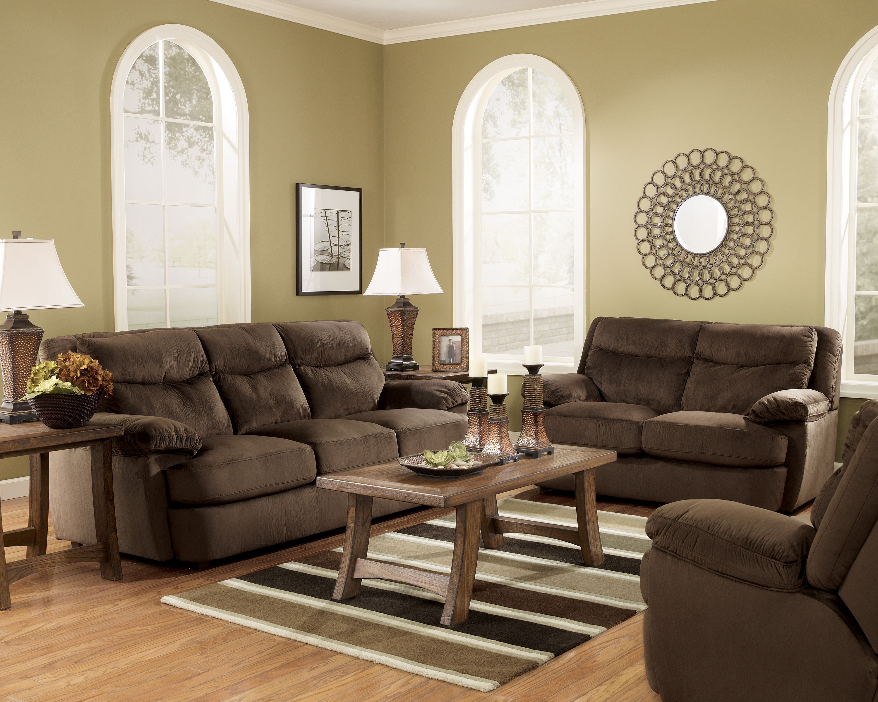 Contemporary java living room set the classy home for Best living room set deals