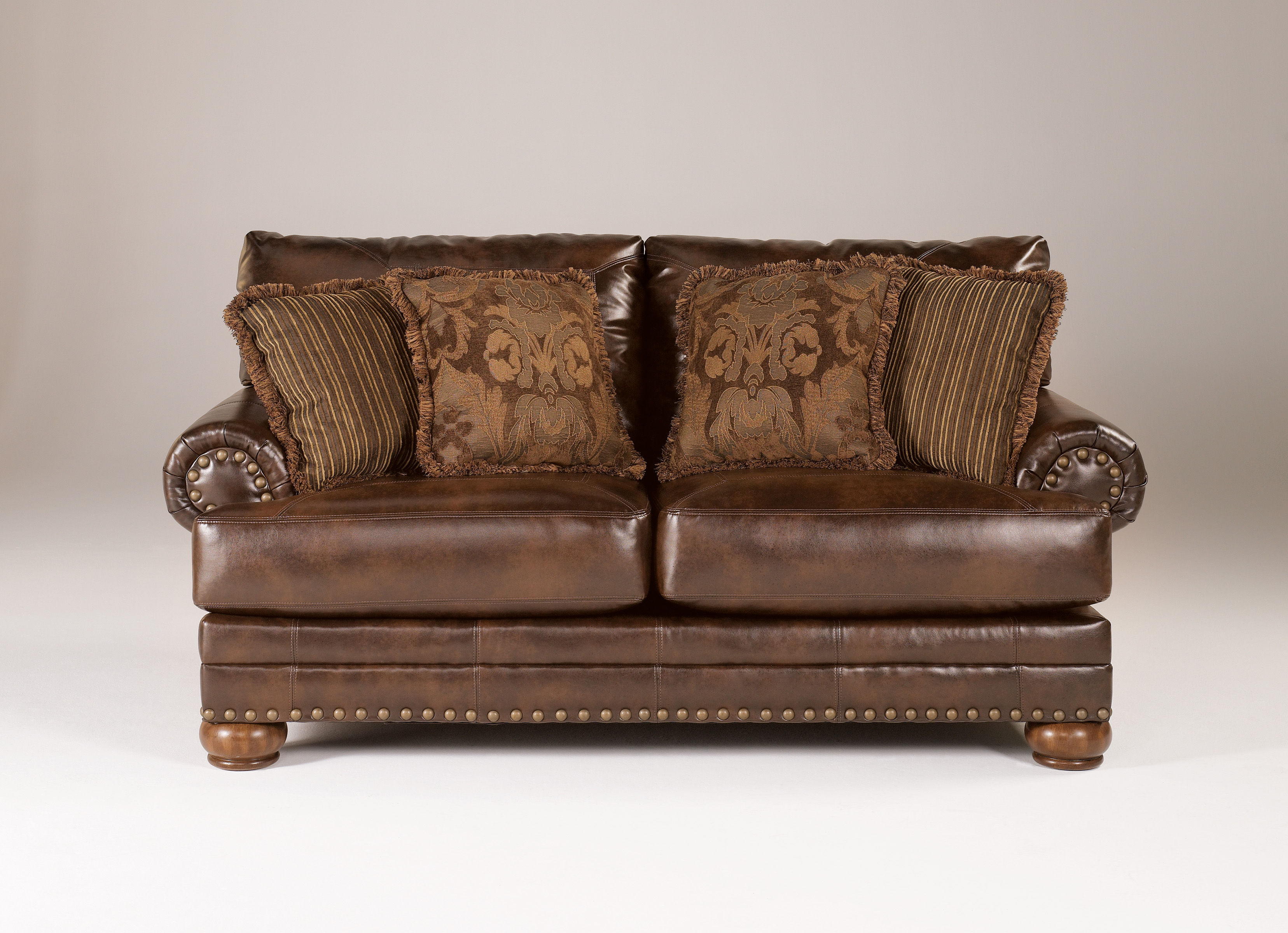 Ashley Furniture Durablend Antique Loveseat The Classy Home