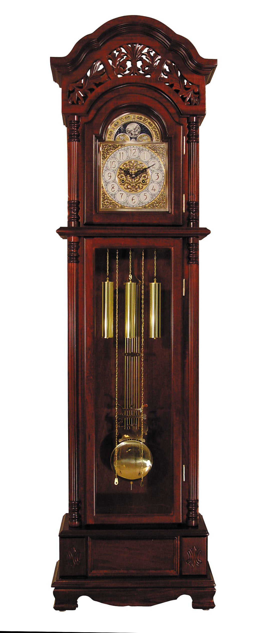 Acme Furniture Plainville Cherry Grandfather Clock The