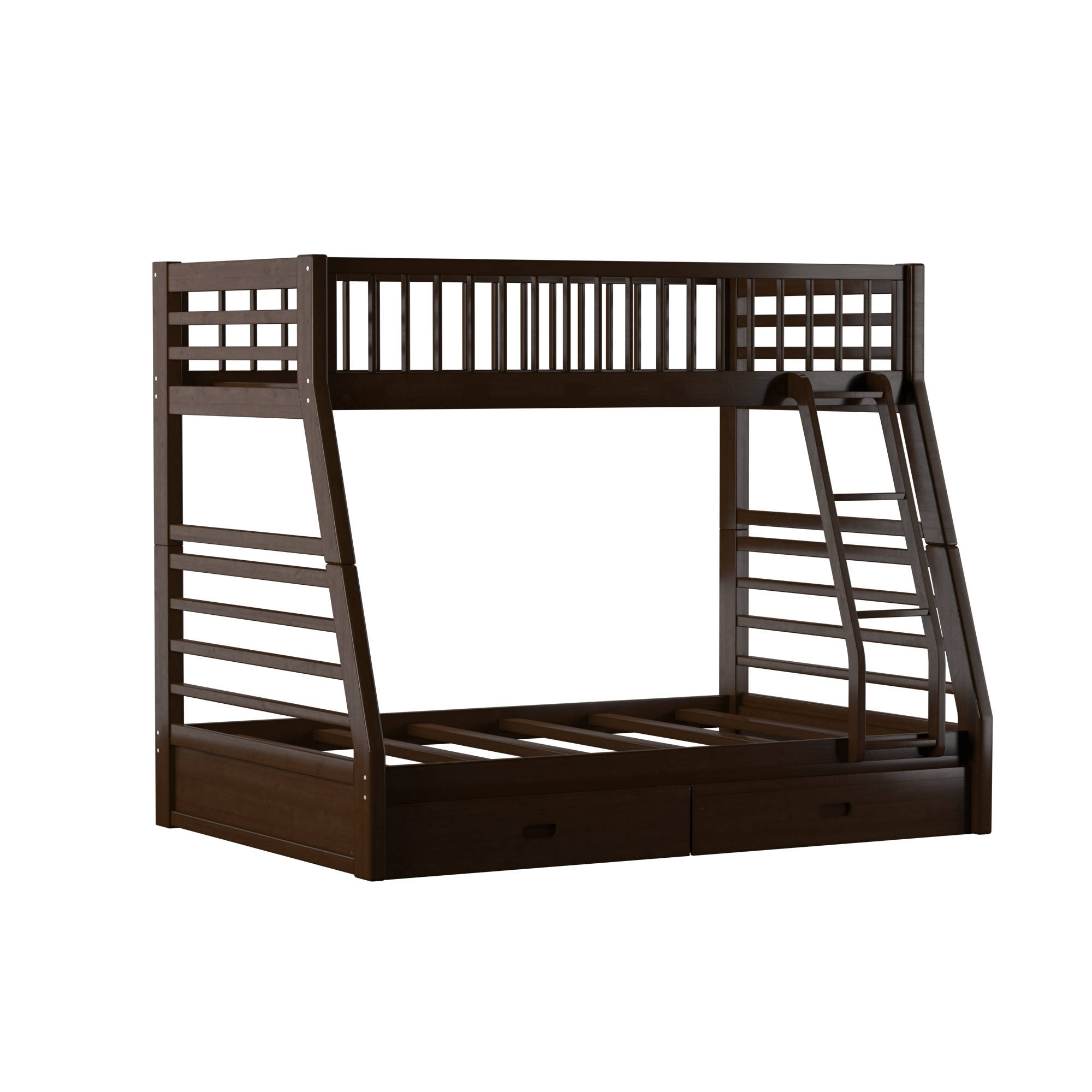 Acme Furniture Jason Espresso Wood Twin Over Full Drawers Bunk Bed