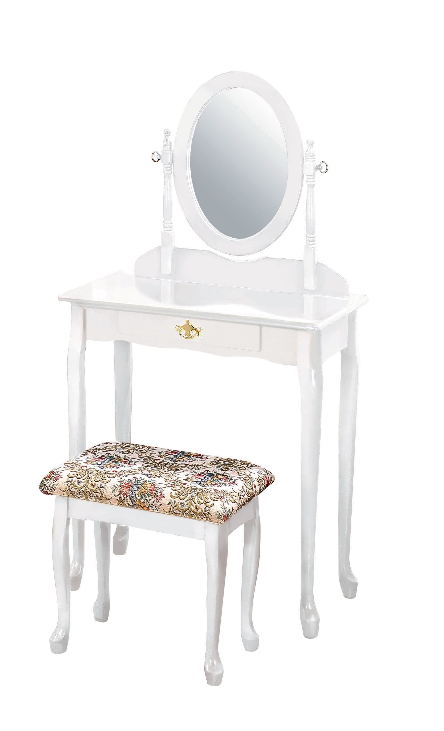 Acme Furniture Queen Anne White Vanity Set | The Classy Home