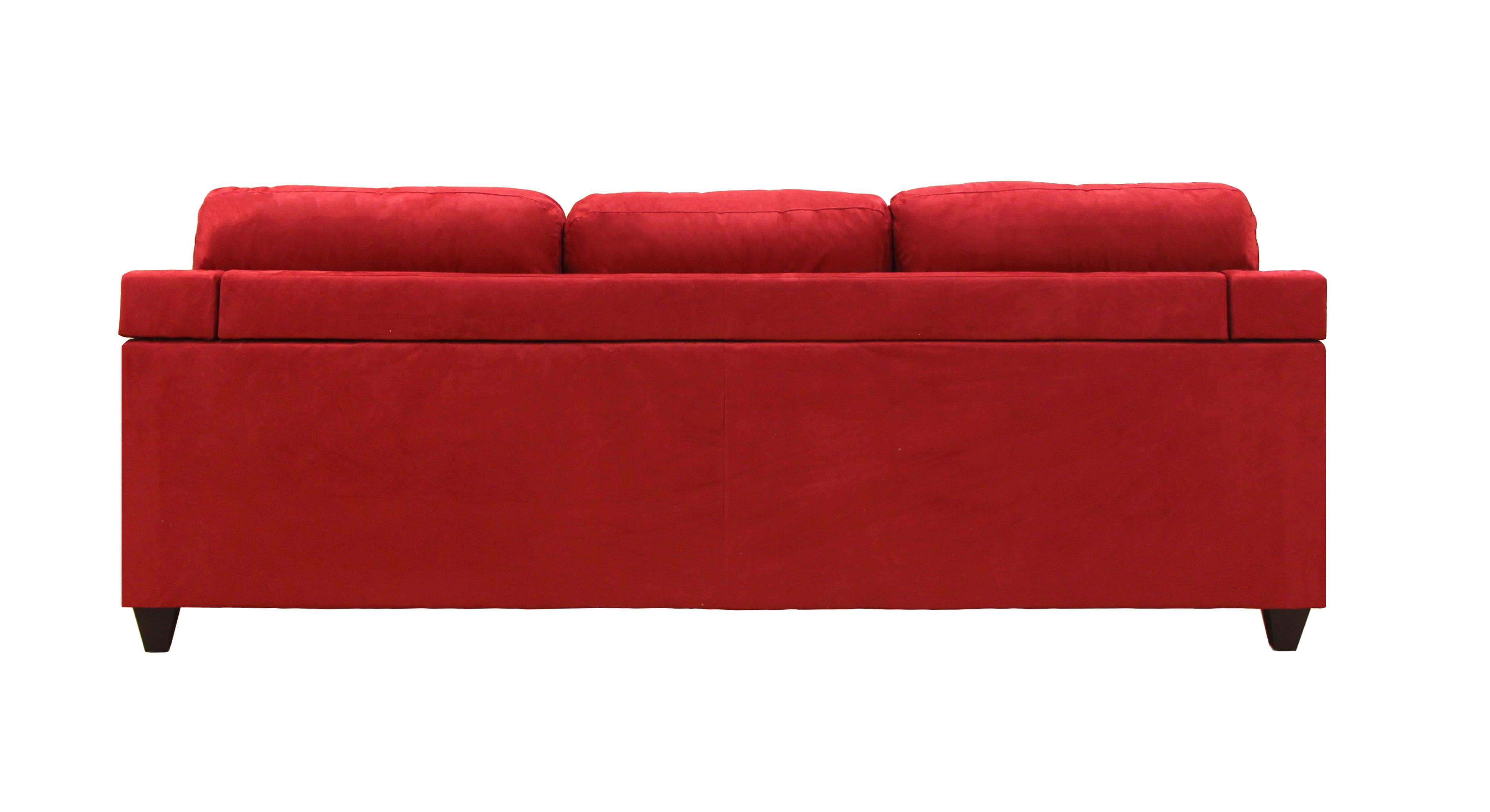 Fantastic Acme Furniture Vogue Red Reversible Chaise Sectional The Bralicious Painted Fabric Chair Ideas Braliciousco