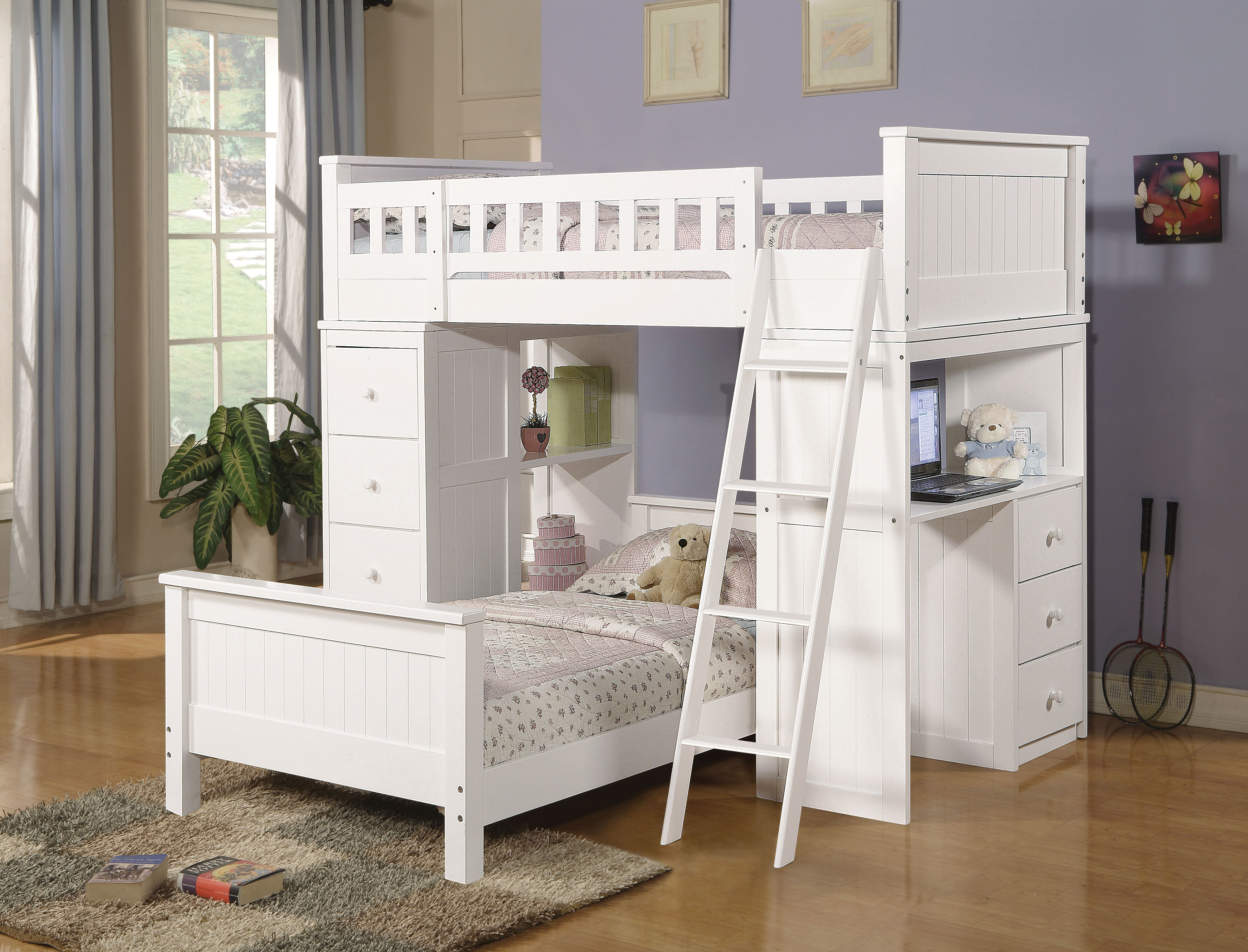Acme Furniture Willoughby White Loft Bed To Enlarge