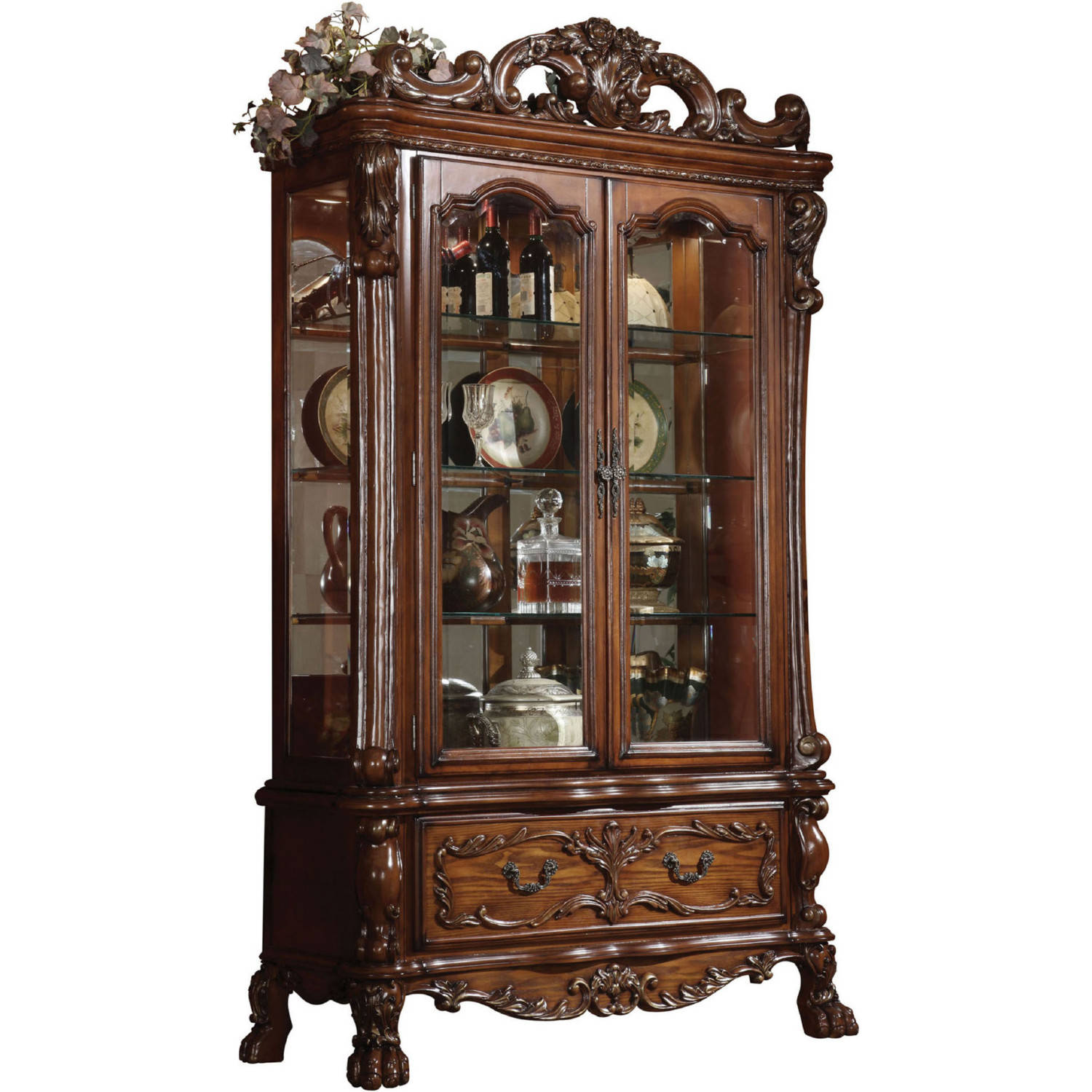 Acme Furniture Dresden Cherry Oak Curio