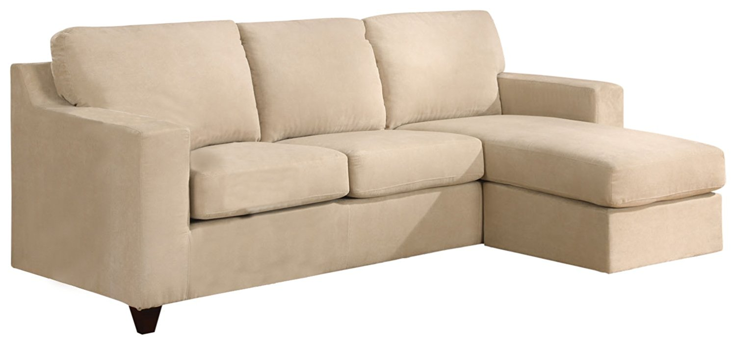 Acme Furniture Vogue Beige Reversible Chaise Sectional Sofa The Cly Home