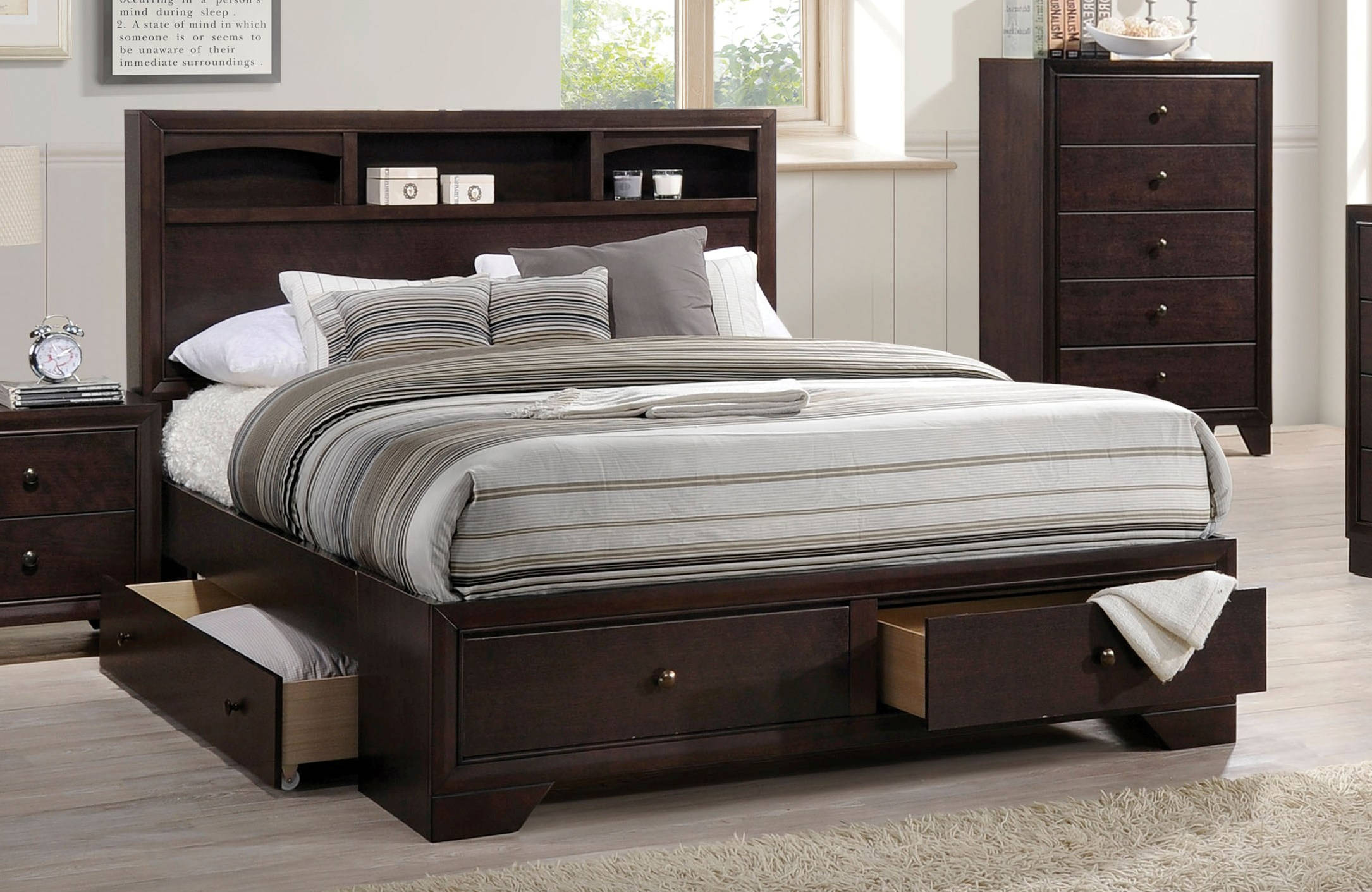 Acme Furniture Madison II Espresso Queen Storage Bed | The Classy Home