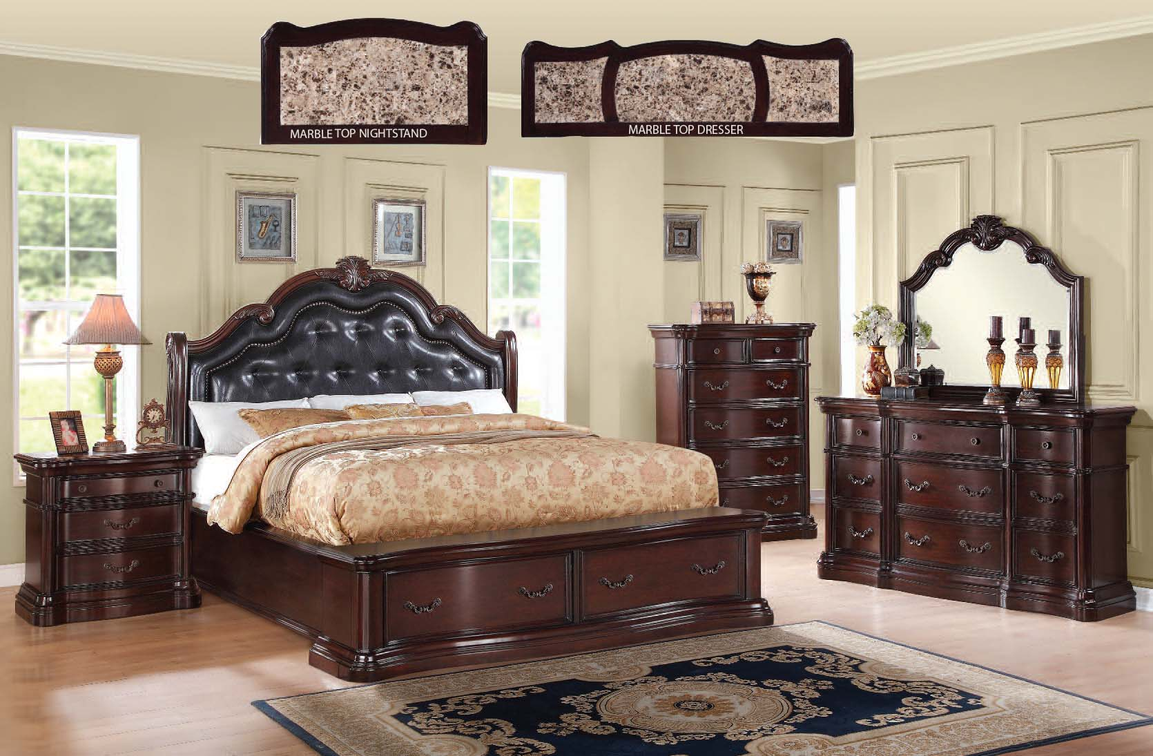 Acme furniture veradisia master bedroom set the classy home for Bedroom furniture set deals