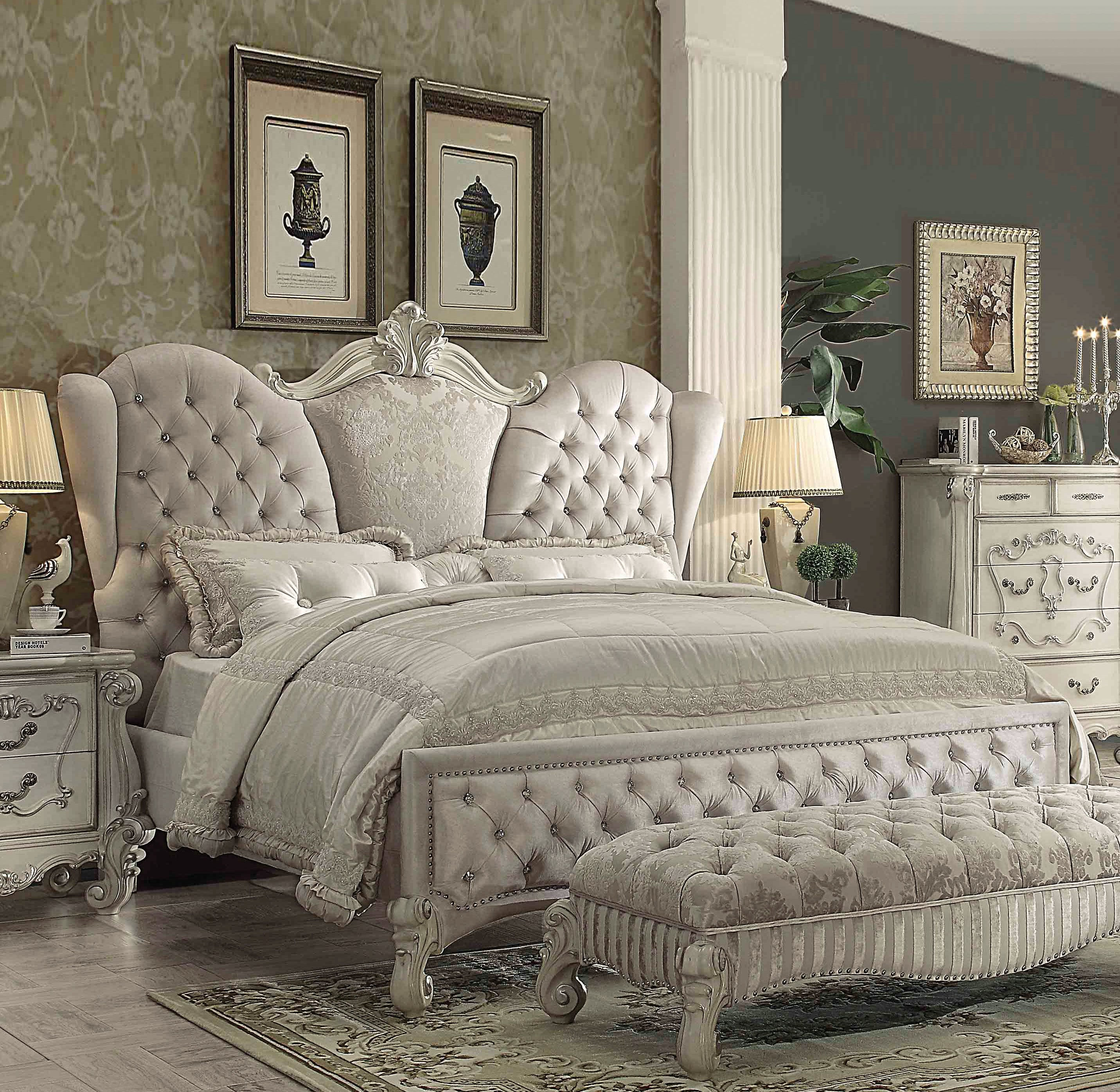 Acme Furniture Versailles Ivory Queen Bed