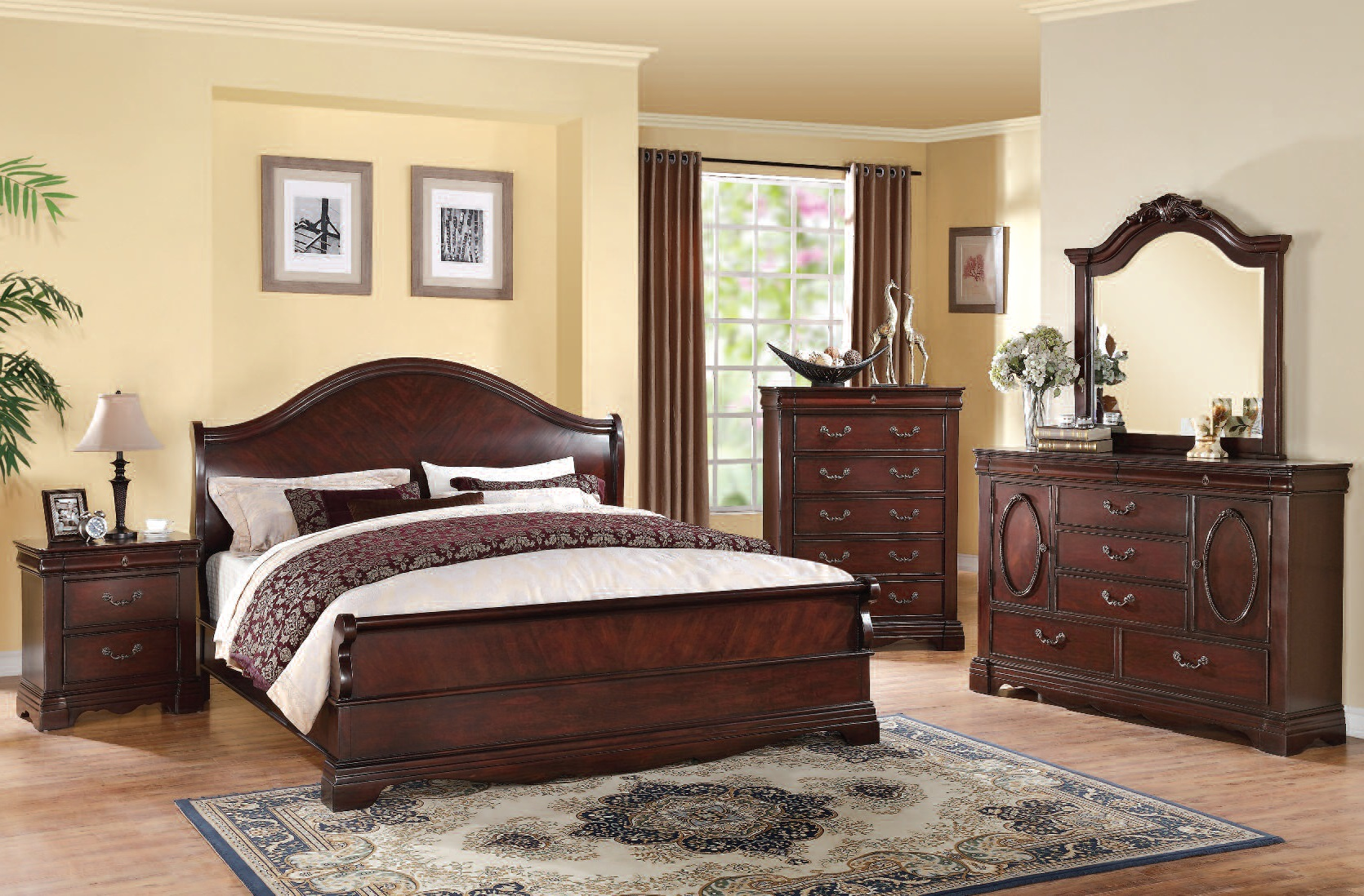 Acme furniture beverly dark cherry master bedroom set the classy home No dresser in master bedroom